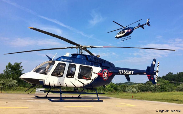 Four Bell 407GXP from Wings Air Rescue operated by Med-Trans in  Tennessee, Kentucky and Virginia are now carrying blood and plasma on all flights provided by Marsh Regional Blood Center