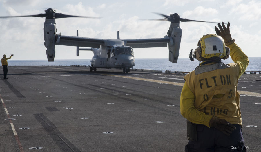Marine Medium Tiltrotor Squadron VMM-265 (Reinforced) provided the vertical lifting for the 31st Marine Expeditionary Unit (MEU)