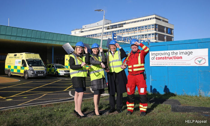 The helipad at Liverpool' Aintree University Hospital, funded by the HELP Appeal and being built by BAM Construction, is expected to be fully operational in summer