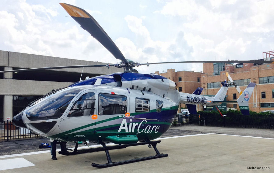Metro Aviation displays EC145e at Air Medical Transport Conference