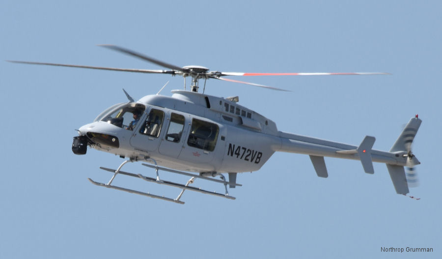 Northrop Grumman autonomous surrogate aircraft, a manned P-10 Bell 407 modified helicopter