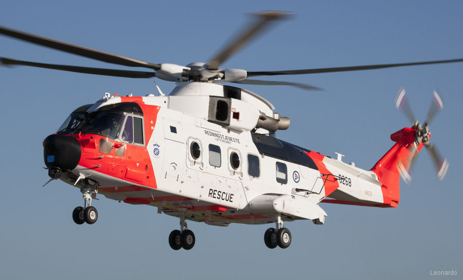 SAR,Norway,North,Sea,AW101,Leonardo. Leonardo starts delivery of 16 AW101 Norwegian all-weather SAR helicopters