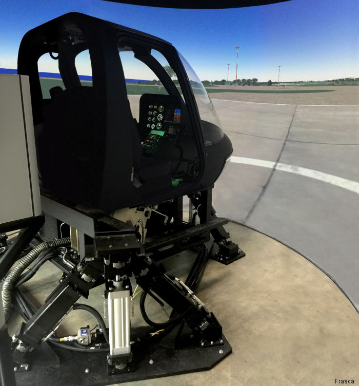 FRASCA Helicopter Training Device (HTD) on Display at AMTC