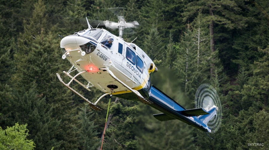 Sequoia Helicopters used Helicopter Flight Data Monitoring (HFDM) SkyTrac ISAT-200A during pre-season test flights on a new Bell 212 engine