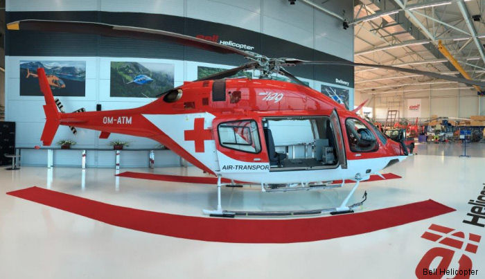 Three Bell 429 in medical configuration for Air Transport Europe of Slovakia were the first fully customized aircraft by Bell Europe's facility in Prague, Czech Republic