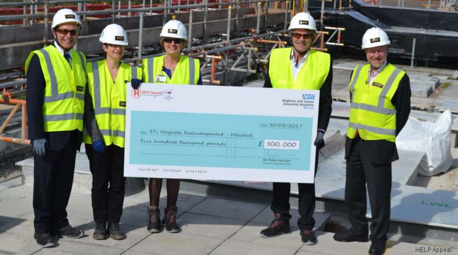 Brighton Helipad Receives First Instalment Of £500,000