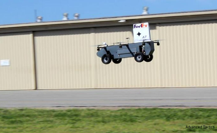 Advanced Tactics Inc (AT), Panther drone has successfully completed their first aerial package delivery test