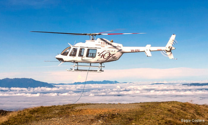 The 407HP, powered by a Honeywell's HTS900 engine, at high altitude testing above 10,000 feet, is lifting more than a standard Bell 212 and close to double the standard Bell 407 helicopter