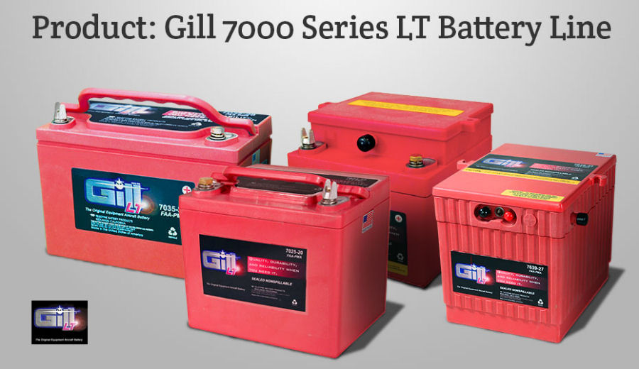 Gill Batteries received FAA Parts Manufacturer Approval (PMA) for installation of its new-generation 7000 Series (7638-44) sealed lead-acid battery on EC135 and EC145 helicopters