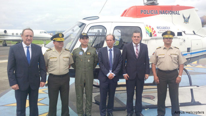 Ecuador's Police Received Fifth AS350