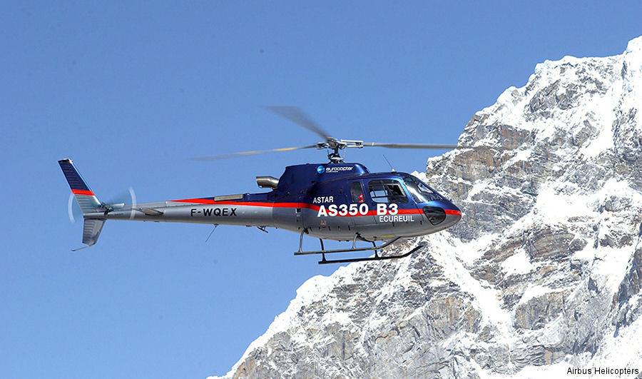 Nepalese Army, Shree Airlines, Simrik Air, Fishtail Air, Air Dynasty, Heli Everest, Mountain Helicopters, Altitude Air and Manang Air flies  more than 15000 hours annually in the H125 / AS350