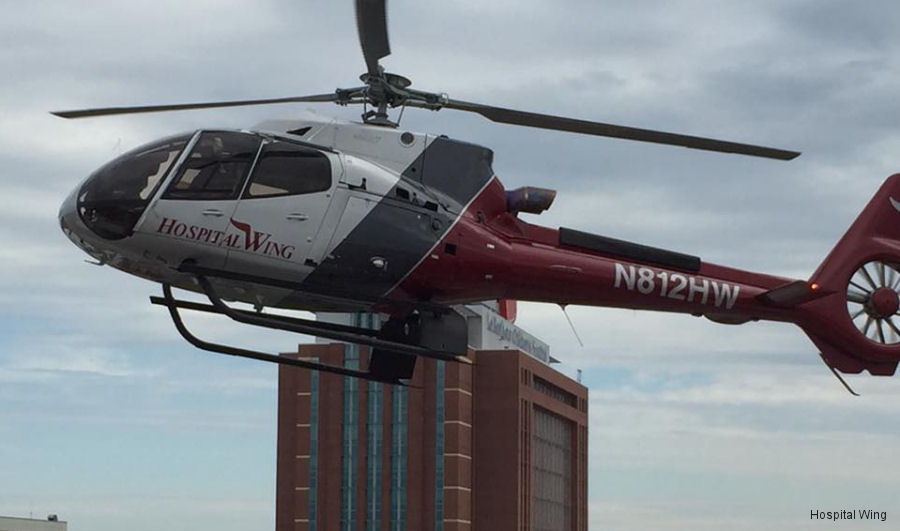 Hospital Wing, which operates from 5 bases serving 27 hospitals  within a 250-mile radius of Memphis, Tennessee received their fourth H130/EC130T2 helicopter