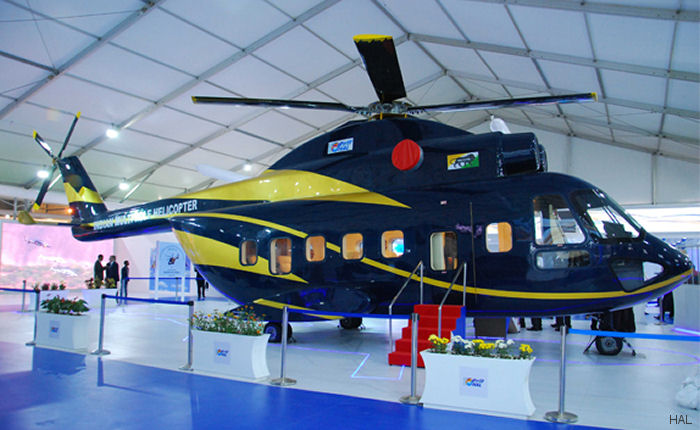 A full scale mock-up of the Indian Mutli Role Helicopter (IMRH) was unveiled during the inaugural day of Aero India 2017