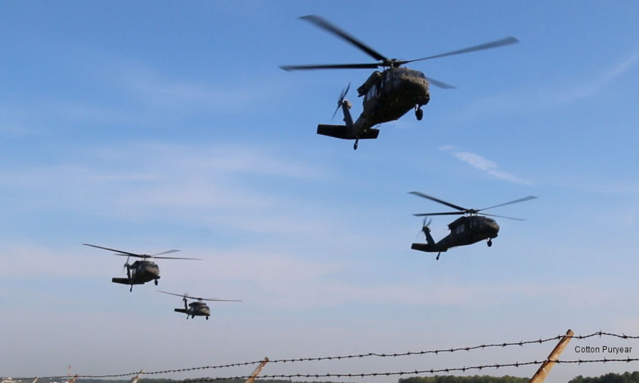 Virginia National Guard helicopters depart for Texas for Hurricane Harvey recovery operations