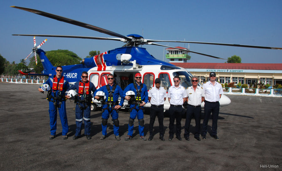 Héli-Union starts helicopter operations for a Client in offshore Myanmar