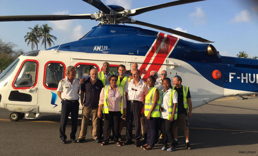 Héli-Union received recognition medals for its helicopter transport service in Tanzania