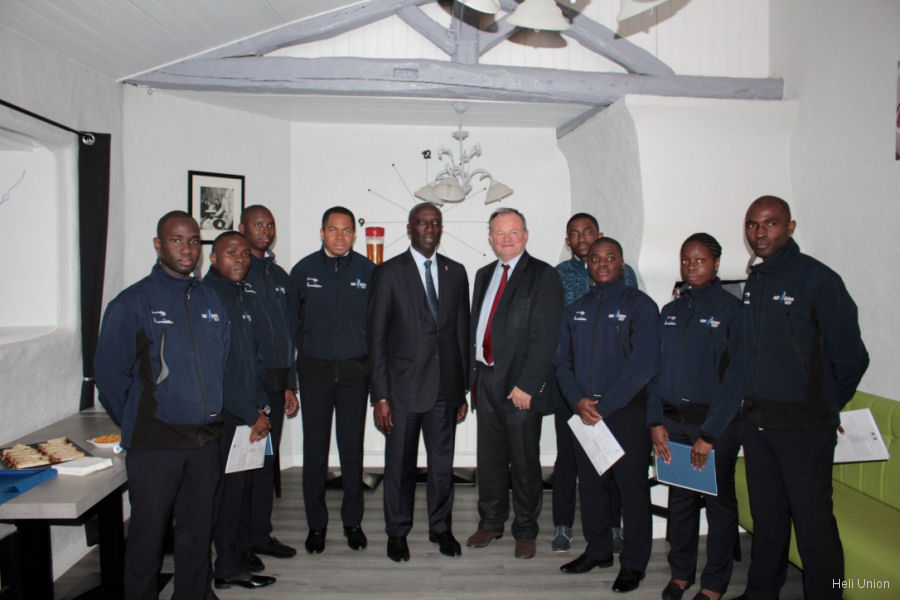 Diploma Award Ceremony Of Cameroonese Pilots At Heli-union Training Center