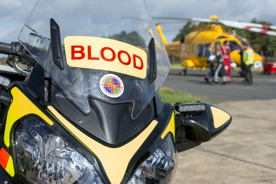 Lincs & Notts Air Ambulance crew to deliver life-saving blood transfusions