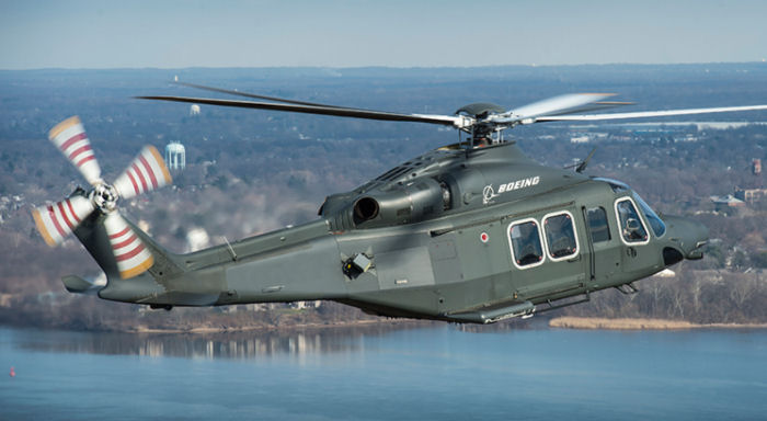 Boeing selects the AgustaWesland AW139 built in Philadelphia as the MH-139 for the US Air Force tender of up to 84 helicopters to replace the UH-1N Huey