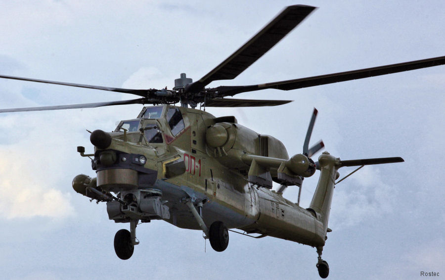 Rostvertol completed the first Mi-28UB helicopters for the Russian Armed Forces.