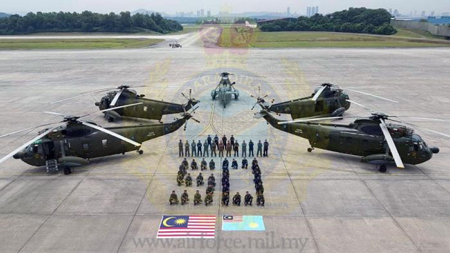 Sikorsky celebrates 50 years of service by the Nuri S-61 with the Royal Malaysian Air Force