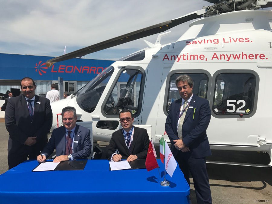 Sino-US ordered 2 AW119Kx, 10 Trekker and 5 AW139 helicopters valued in excess of €100 million during the Paris Air Show