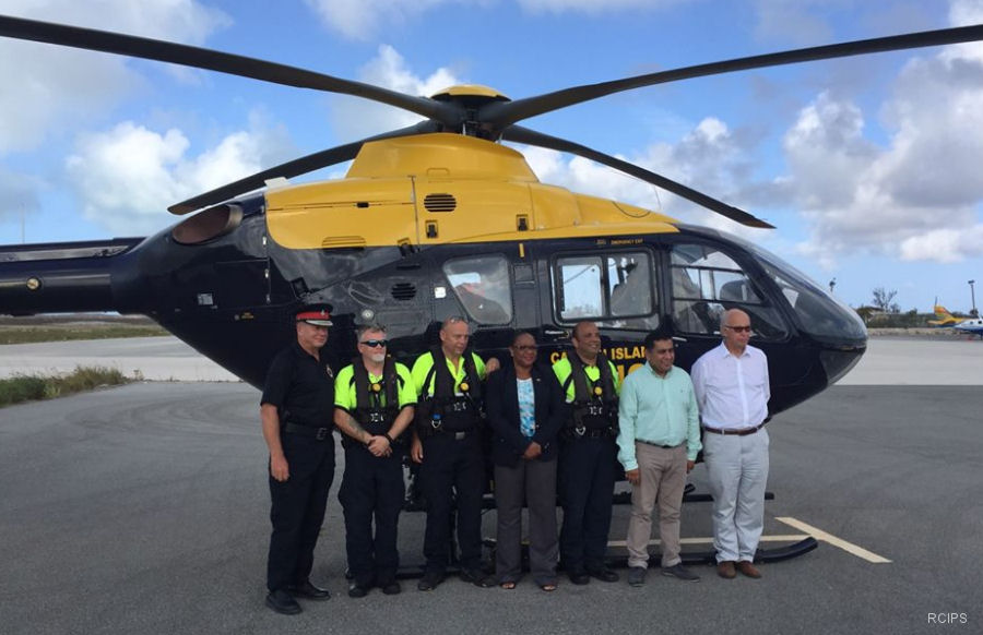 After Hurricane Irma hit the Caribbean's Leeward Islands on September 6, 2017, the Royal Cayman Islands Police Service (RCIPS) EC135 helicopter was the only available outside aid for the first 36 hours