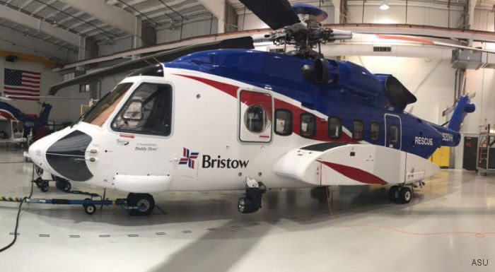 Aviation Specialties Unlimited (ASU) obtained a supplemental type certificate (STC) on the Sikorsky S-92A for Bristow operating in the Gulf of Mexico.