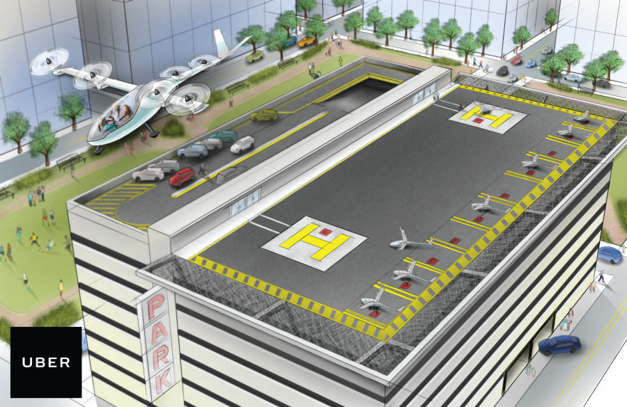 Uber to Collaborate with Bell Helicopter to Develop Urban Electric VTOLs