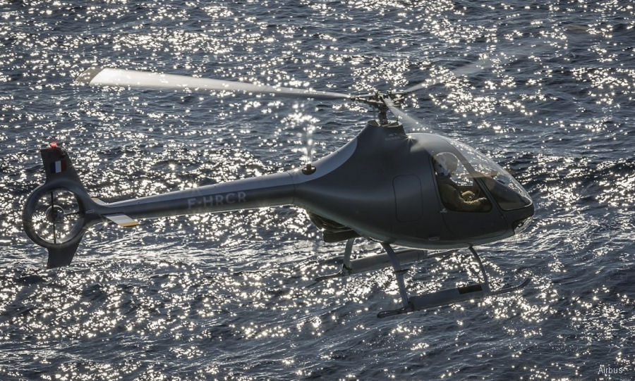 The VSR700 drone, based on Guimbal Cabri G2 single-engine, diesel-powered helicopter, being offered by Airbus for the new French Navy medium-sized frigates