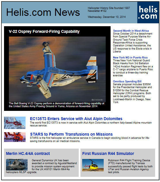 Helicopter News December 10, 2014 by Helis.com