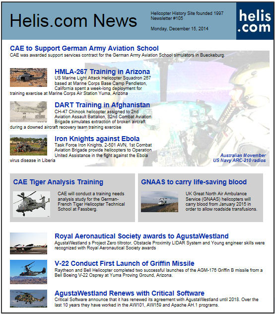 Helicopter News December 15, 2014 by Helis.com