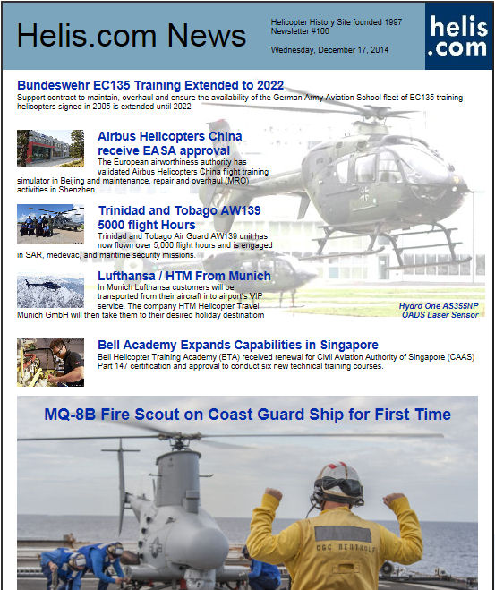 Helicopter News December 17, 2014 by Helis.com