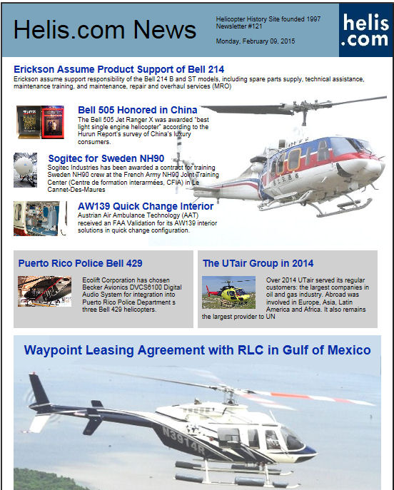 Helicopter News February 09, 2015 by Helis.com
