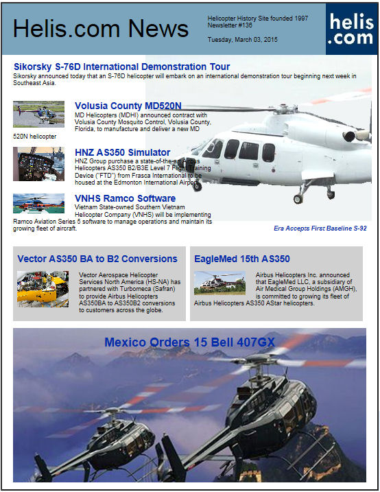 Helicopter News March 03, 2015 by Helis.com