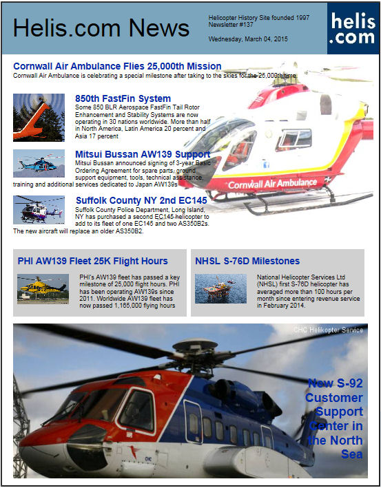 Helicopter News March 04, 2015 by Helis.com