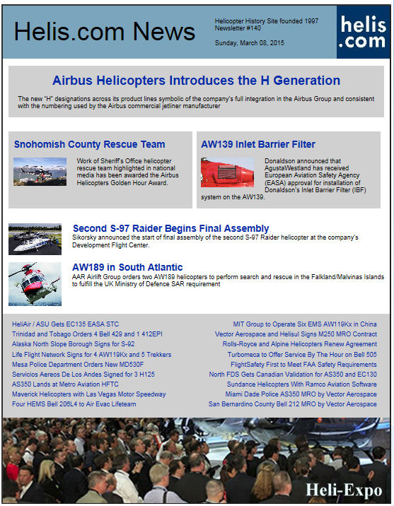 Helicopter News March 08, 2015 by Helis.com