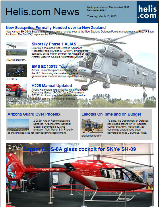 Helicopter News March 10, 2015 by Helis.com