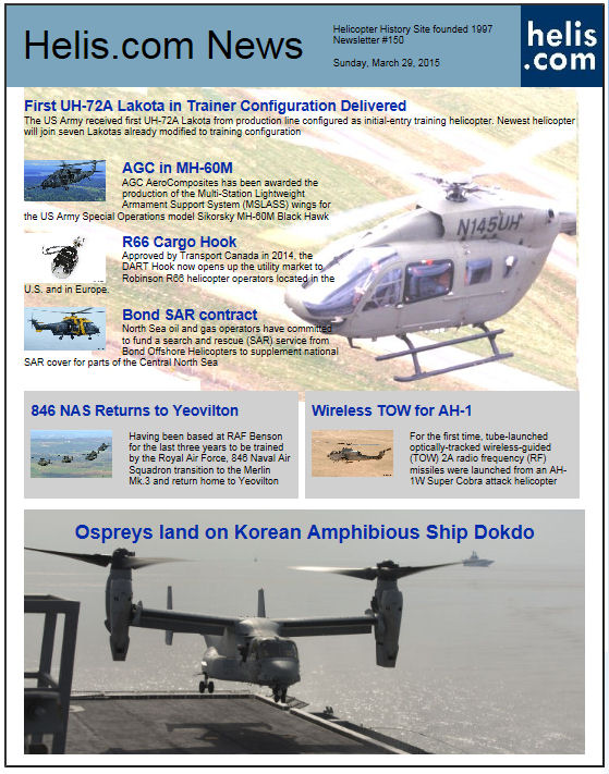 Helicopter News March 29, 2015 by Helis.com
