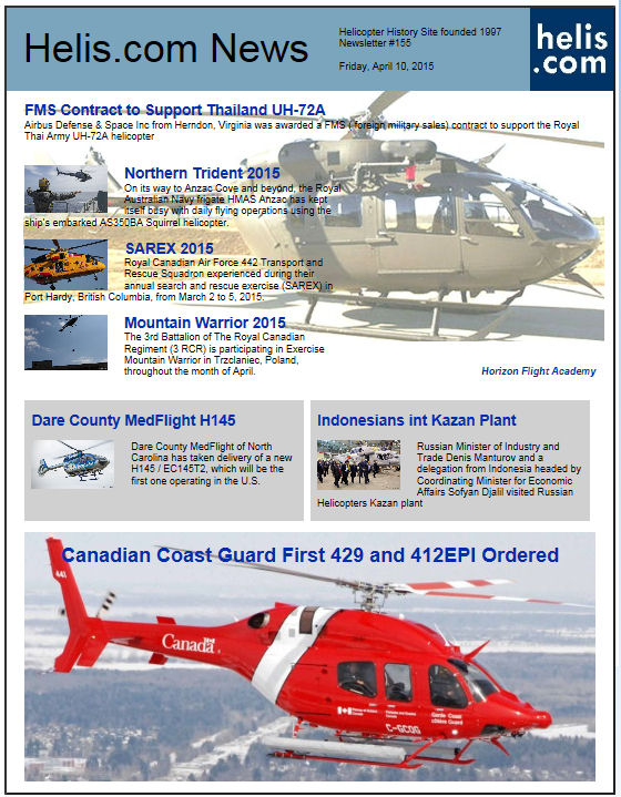 Helicopter News April 10, 2015 by Helis.com