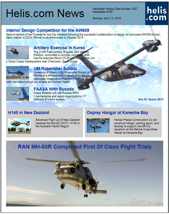 Helicopter News April 13, 2015 by Helis.com
