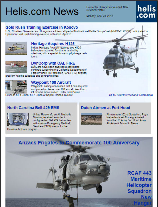 Helicopter News April 20, 2015 by Helis.com