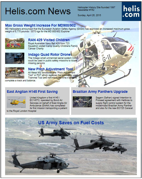 Helicopter News April 26, 2015 by Helis.com
