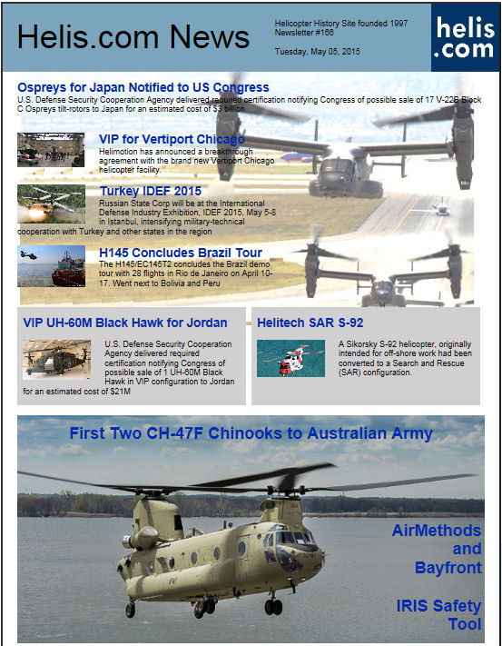 Helicopter News May 05, 2015 by Helis.com