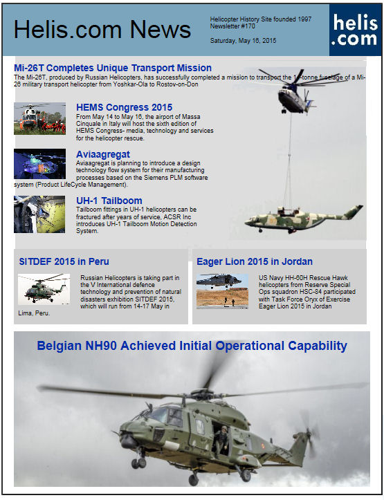 Helicopter News May 16, 2015 by Helis.com