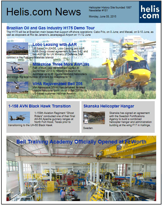 Helicopter News June 08, 2015 by Helis.com