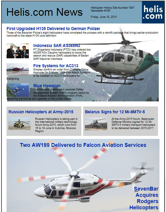 Helicopter News June 19, 2015 by Helis.com