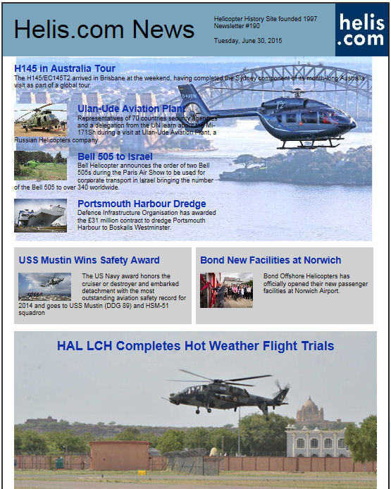 Helicopter News June 30, 2015 by Helis.com
