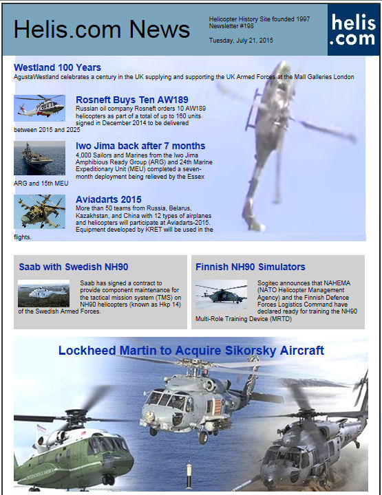 Helicopter News July 21, 2015 by Helis.com