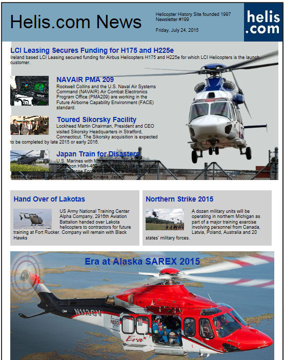 Helicopter News July 24, 2015 by Helis.com